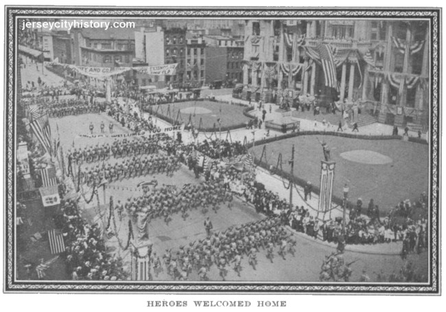 WWI soldiers welcomed home by Mayor Frank Hague's Jersey City ...